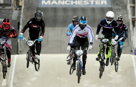 Quillan Isidore at the BMX Supercross World Cup Manchester 2015 (2)